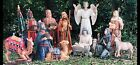 Outdoor Nativity Set All Metal 12 pieces Tallest Piece 51 Christmas Scene