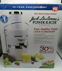 Jack LaLannes Power Juicer Express 10 Year Anniversary White