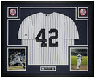 Mariano Rivera Autographed & Framed P S Yankees Jersey Auto Beckett Cert