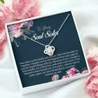 To My Soul Sister Best Friend Gift Soul Sister Necklace Bestie Necklace