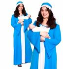ADULT VIRGIN MARY COSTUME Nativity Christmas Fancy Dress Outfit OS PS