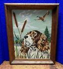 Vintage 1960s Paint By Numbers Painting Pointer Bird Dog  Hunting