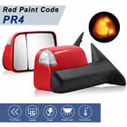 Painted Red Towing Mirrors Power Heated Temp For 09 18 Dodge Ram 1500 2500 3500