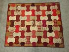 Hand Made LAP QUILT Wall Hanging APPLE CORE PATTERN