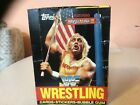 1987 Topps WWF Wrestling Wax Box W 36 Packs. NO BLACK MARKS, FRONT OR BACK!