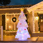 Outdoor 8 Christmas Tree Holiday White LED Lit Inflatable Lawn Yard Decoration
