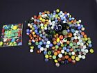 Huge Lot Of 220+ Glass Marbles Vintage  Modern Various Colors Sizes  Styles