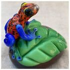 Orient And Flume Art Glass Paperweight Poison Frog David Smallhouse LTD 265 350