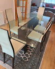 Exquisite Roche Bobois Glass Dining Table And 6 Chairs Price Reduced By 500