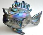 Cypriote Iridescent Blue Fish By Saul Alcaraz Blown Glass
