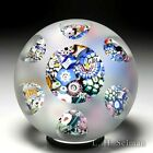 John Deacons 2021 end of day scramble millefiori sandblasted faceted paperweight