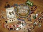 Vintage Mixed Lot Native American Ethnic Tribal Jewelry Shell Beads