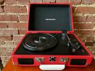 The Crosley Cruiser DELUXE Portable Turntable w Bluetooth in RED