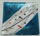 KURT MCVAY SIGNED FUSED GLASS IRRIDESCENT CANDY DISH plate signed