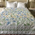 A Pastel blue Country Quilt Queen size 82 inches by 82 inches