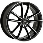 4 Pacer 792MB Infinity 17x75 5x100 5x45 +42 Black Machined Wheels Rims 17 Inch