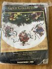 dimensions cross stitch kit gold collection Windswept Santa Skirt Table Cover