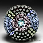 Perthshire Paperweights swan picture cane and paneled millefiori art paperweight