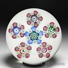 John Deacons 2021 millefiori circlet garland and silhouettes glass paperweight