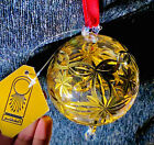 Egyptian Imported Blown Glass Christmas Ornament Hand Painted 24K With Baccarat