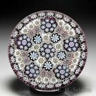 Peter McDougall 2005 concentric patterned millefiori glass paperweight