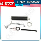Motorcycle Exhaust Muffler Pipe W Screws Fits GY6 125 150cc Engines Black