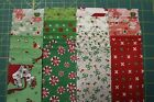 42 CHRISTMAS GREETINGS JELLY ROLL 25x44 QUILT STRIPS BY WILMINGTON PRINTS
