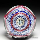 Whitefriars 1974 close concentric millefiori miniature faceted paperweight