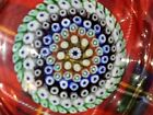 Rare Whitefriars Glass Paperweight Dish Millefiori Signed Cane 1973 See Pics