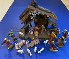 VINTAGE NATIVITY CRCHE SET CHRISTMAS MANGER 21 PC MADE IN ITALY + 900 Series +