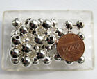 Sterling Silver 5 67 or 8mm Bead Heavy wall seamless USA choose size and count