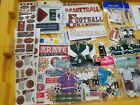 Large Lot Scrapbooking Stickers and Pages Sports Themed and More CE13