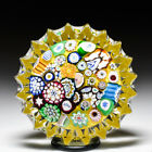 John Deacons 2021 end of day scrambled millefiori fluted glass paperweight