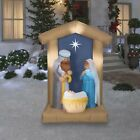 67 Nativity Archway Scene Holy Family Light up Christmas Yard Airblown Display