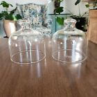 Set of Two Pyrex Large 5 Tall 45 Diam Glass Cloche Dome Bell Jar Apothecary