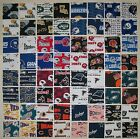 64 QUILT BLOCKS SQUARES EVERY NFL TEAM 4x4 INCH 100 COTTON FABRIC ROTARY CUT
