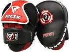 RDX Boxing Focus Pads Hook  Jab Mitts MMA Punch Bag Curved Kick Thai pads T2R
