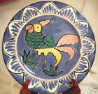 Blue Ceramic Colorful CHICKEN PLATE Charming-NICE!