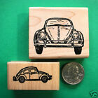 VW Volkswagon Cars Rubber Stamp Set Two Wood Mounted