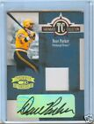 DAVE PARKER 2005 DONRUSS THREADS AUTO JERSEY #3 25