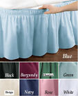 NEW FULL SIZE BED SKIRT/ DUST RUFFLE- HUNTER GREEN
