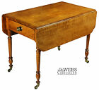 SWC-Tiger Maple Sheraton Pembroke Table, c.1810