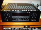 MARANTZ SR8000  OWNERS MANUAL ALL  41 PAGES ALL ON A CD SAME DAY SHIPPING