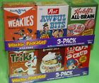 WACKY PACKAGES ANS7 SEALED CEREAL BOX SET C1-C6+WEB SET