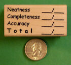 Neatness/Completeness/Accuracy, Teacher's Rubber Stamp