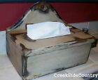 SHABBY Cottage CHIC Wood Tissue Box Cover