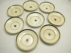 Antique/Vintage Eight Old Saucer Plate With Gold Trim