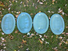 Red Wing Pottery Individual Meat Serving Platters- Set Of Four- Green