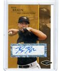 2005 Ryan Braun RC Justifiable Minors Preview White Autograph 125 200