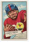 1952 Bowman Large Football Card #123 Eddie Price-New York Giants